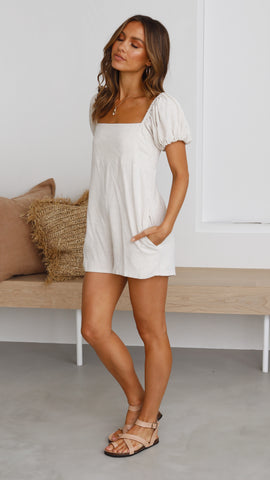 Lany Playsuit- Natural
