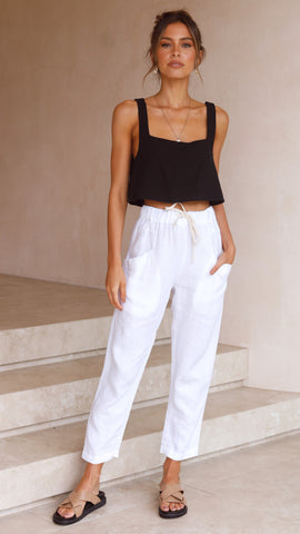 Luxe Pants - White
