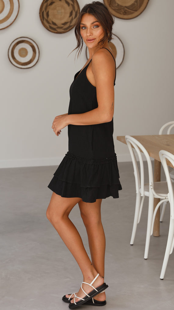 Hattie Mini Dress - Black