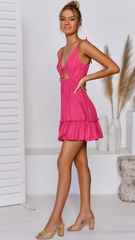 Alexia Dress - Fuchsia
