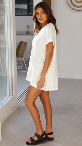 Katherine Playsuit - White
