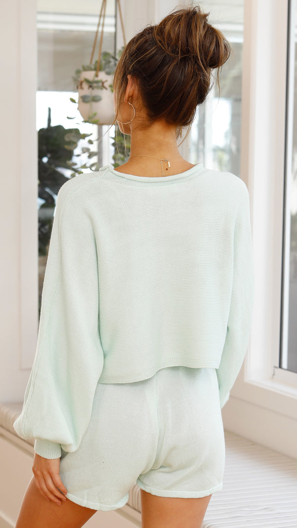 Anya Knit Set - Mint