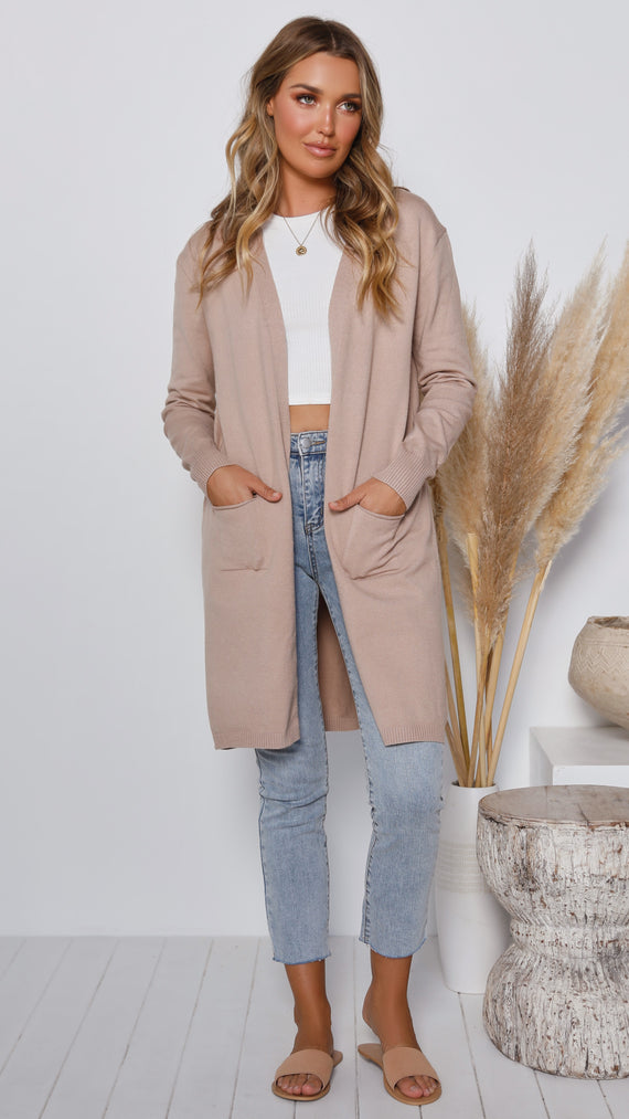 Good Intentions Cardigan - Nude