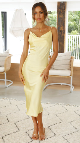 Jewels Dress - Canary Yellow
