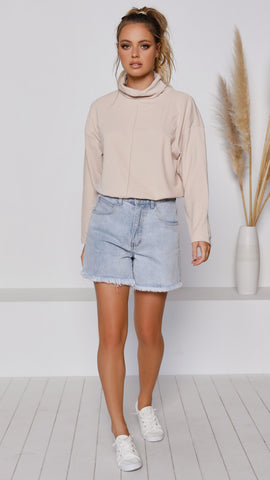 Rock Water Knit Top - Beige