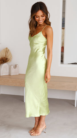 Riviera Dress - Lime