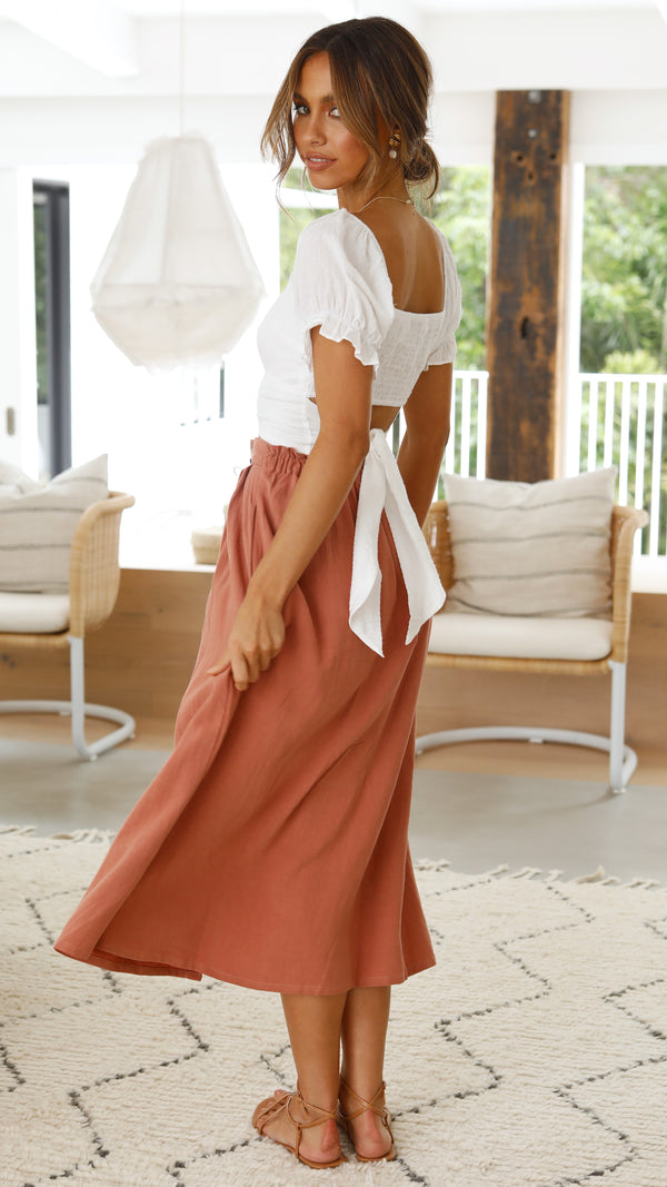Sutton Skirt - Terracotta