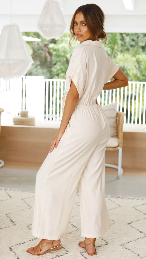 Camilla Jumpsuit  - Cream