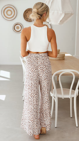 JAYLEN PANTS - BROWN LEOPARD