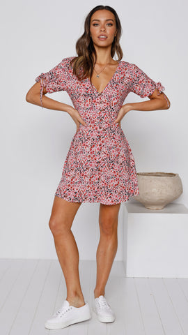 Resonance Dress - Pink Floral