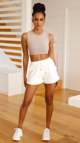 Paige Shorts - White