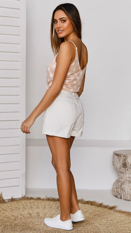San Diego Two Way Cami Top - Blush Polka