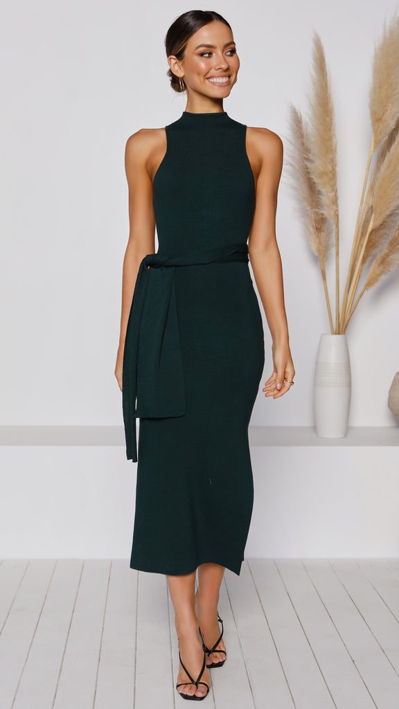 Ariella Midi Dress - Emerald