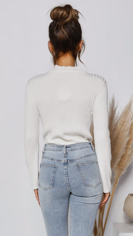 Danni Knit Top - White