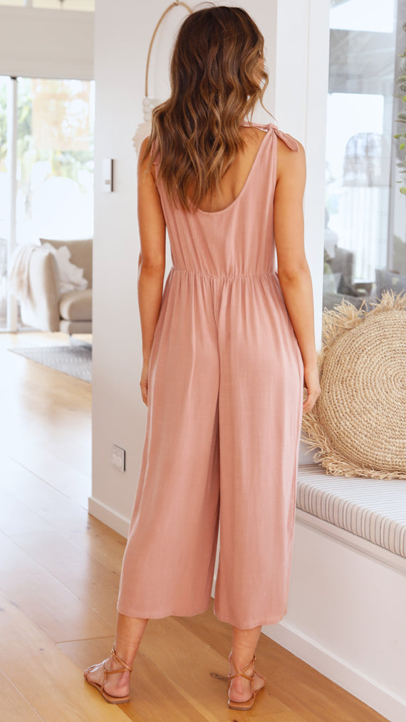 Tia Jumpsuit - Salmon