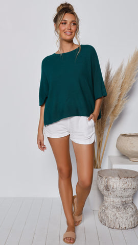 Calista Knit Top - Emerald