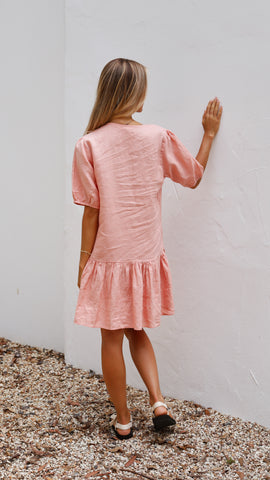 Artie Mini Dress - Salmon