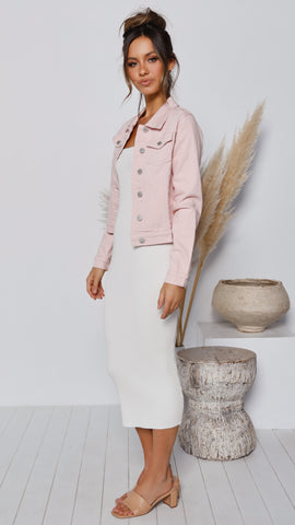 Gracie Denim Jacket - Pink