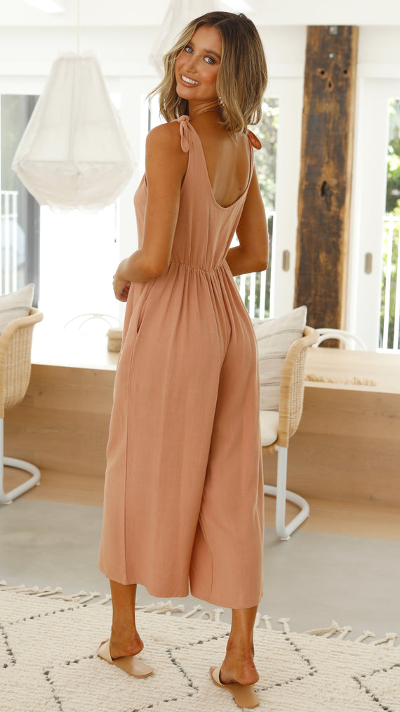 Tia Jumpsuit - Peach