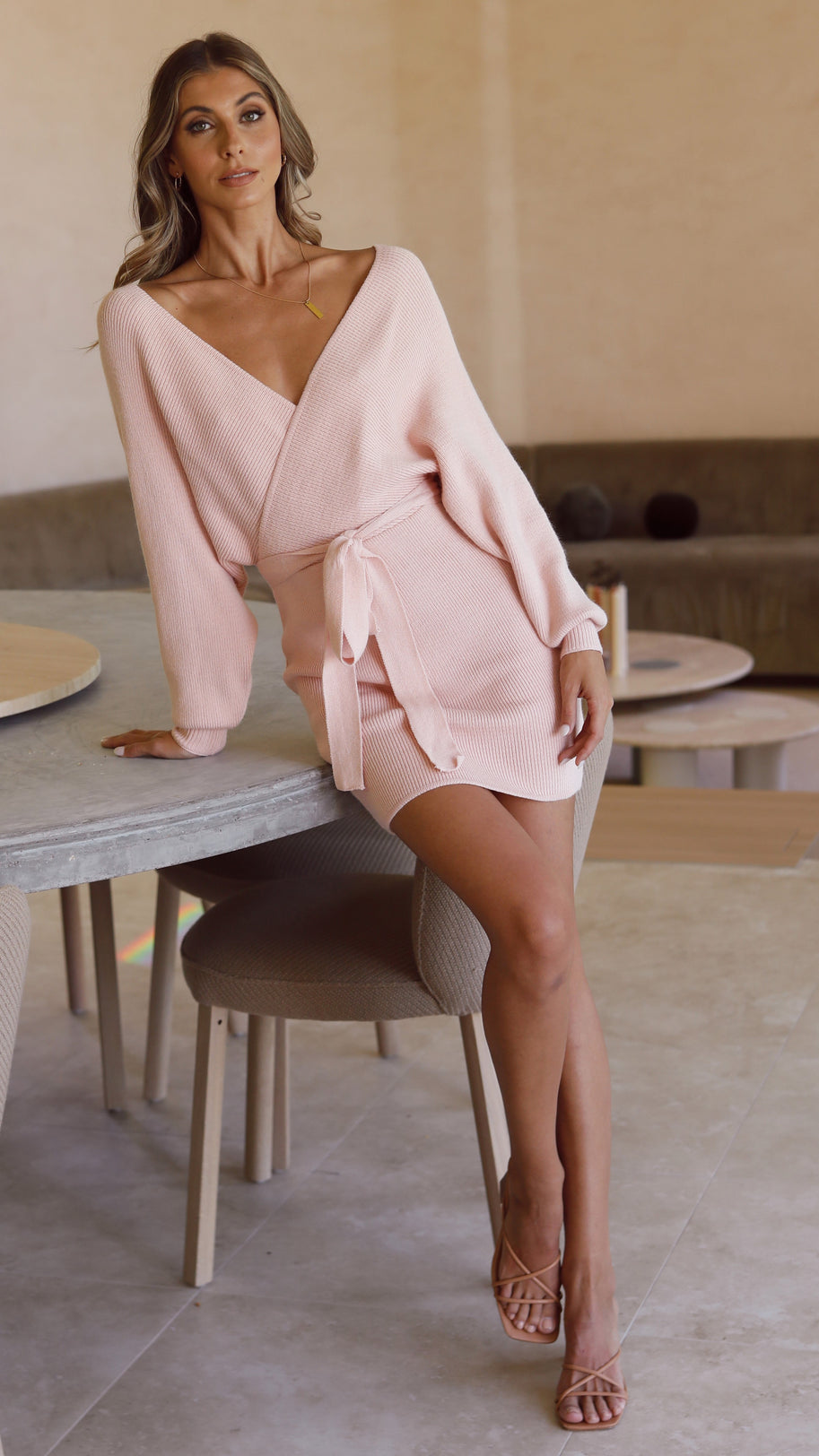 Parisian Dress - Soft Pink