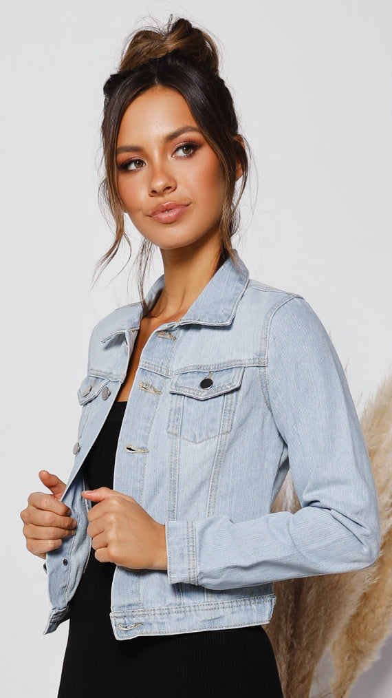 Ayla Denim Jacket - Light Blue Wash