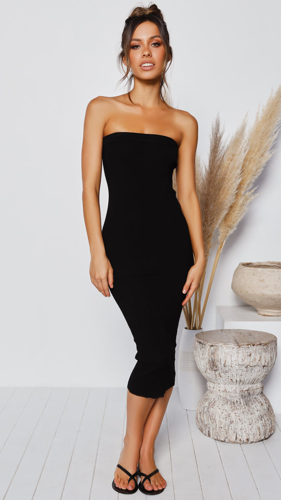 Keely Strapless Dress - Black