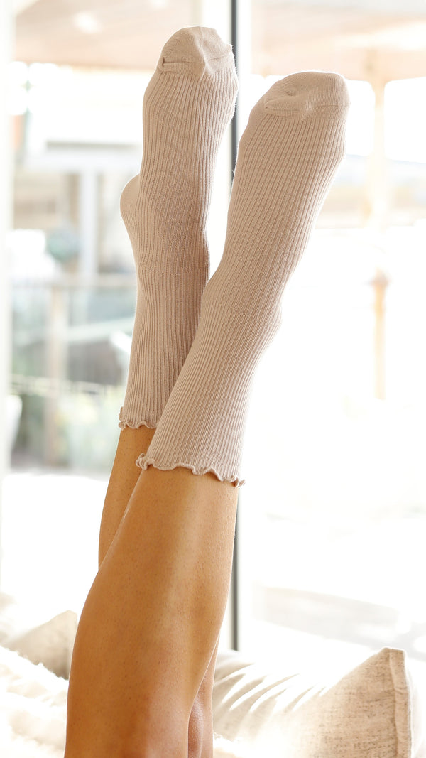 Effie Long Socks - Beige