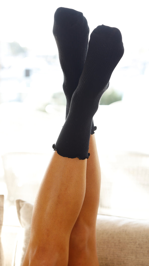 Effie Long Socks - Black