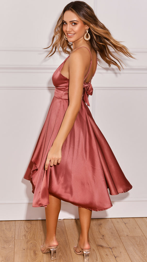 Annalisa Dress - Dusty Rose