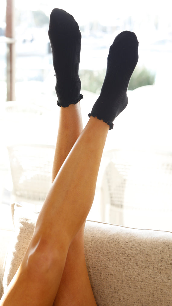 Eden Short Socks - Black