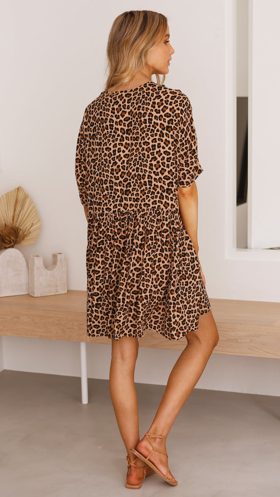 Lula Dress - Leopard