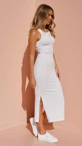 Estelle Midi Dress - White