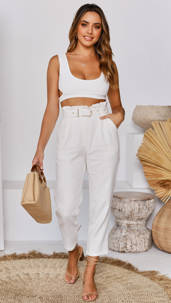 KIRA CROP TOP - WHITE