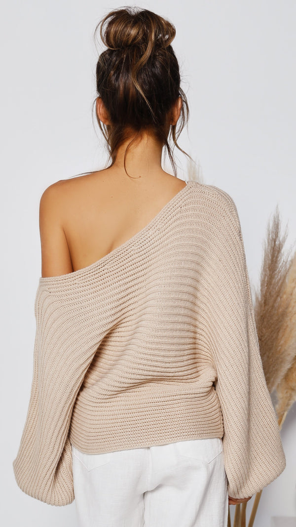 Jessa Knit Top - Beige