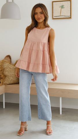 Lulu Tank Top - Blush