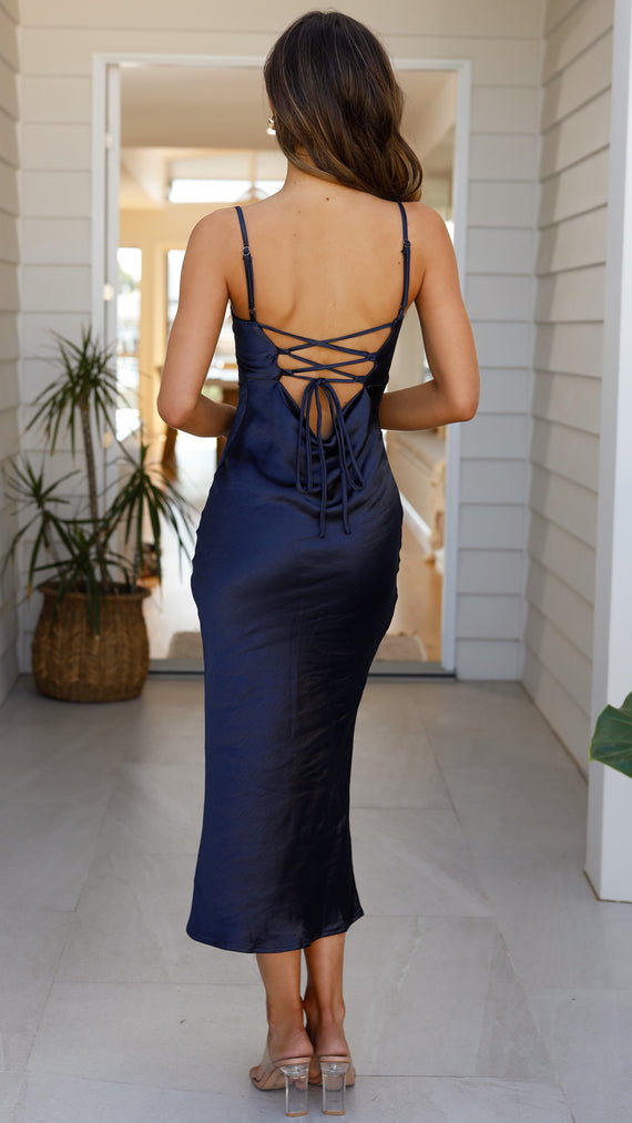 Keira Midi Dress - Navy