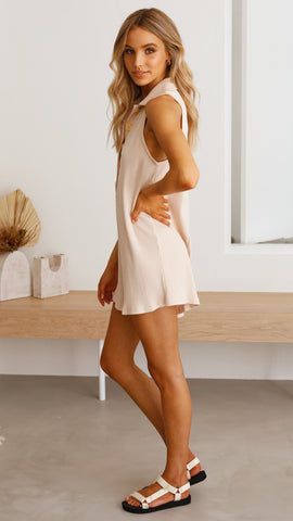 Ashton Playsuit - Beige