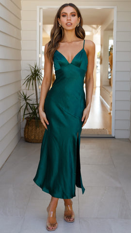 Josie Midi Dress - Emerald