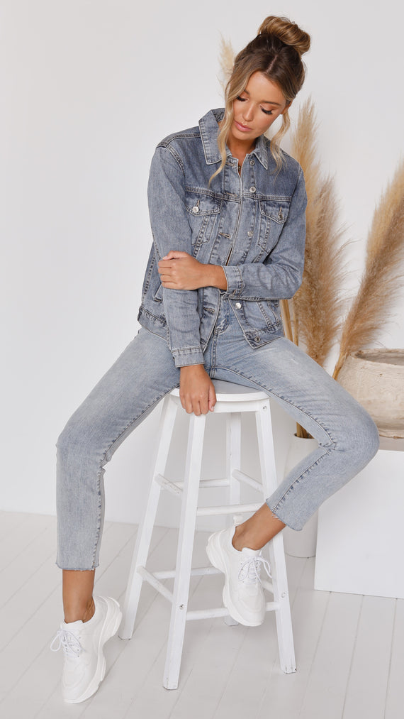 Vivien Denim Jacket - Blue Denim