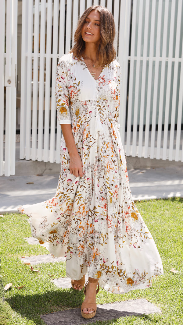 Pretty Thoughts Maxi Dress - Floral
