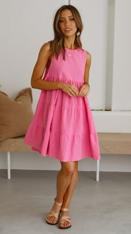 Lulu Mini Dress - Hot Pink