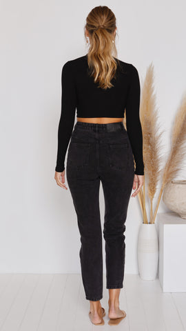 Brynn Crop Top - Black