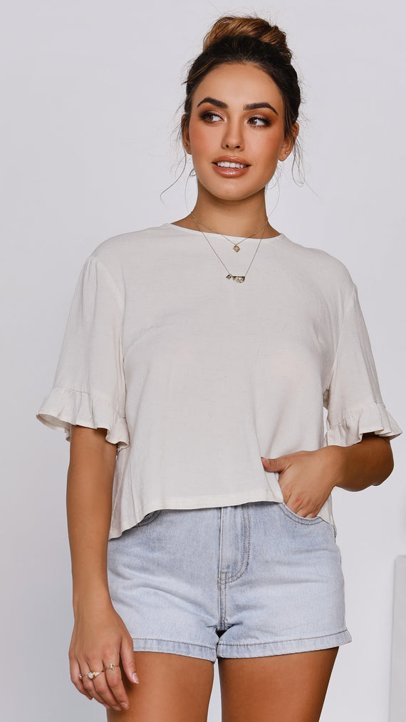 Raffia Top - Natural