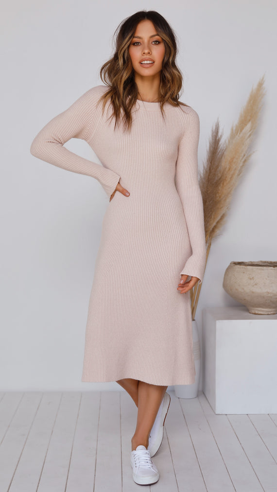 Brooklyn Knit Dress - Blush