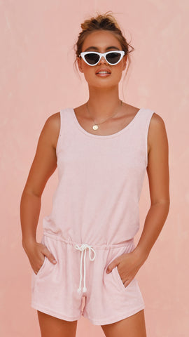 Pretty Jane Playsuit - Pink