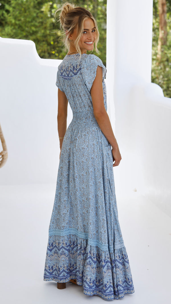 Romi Maxi Dress - Riverside Print