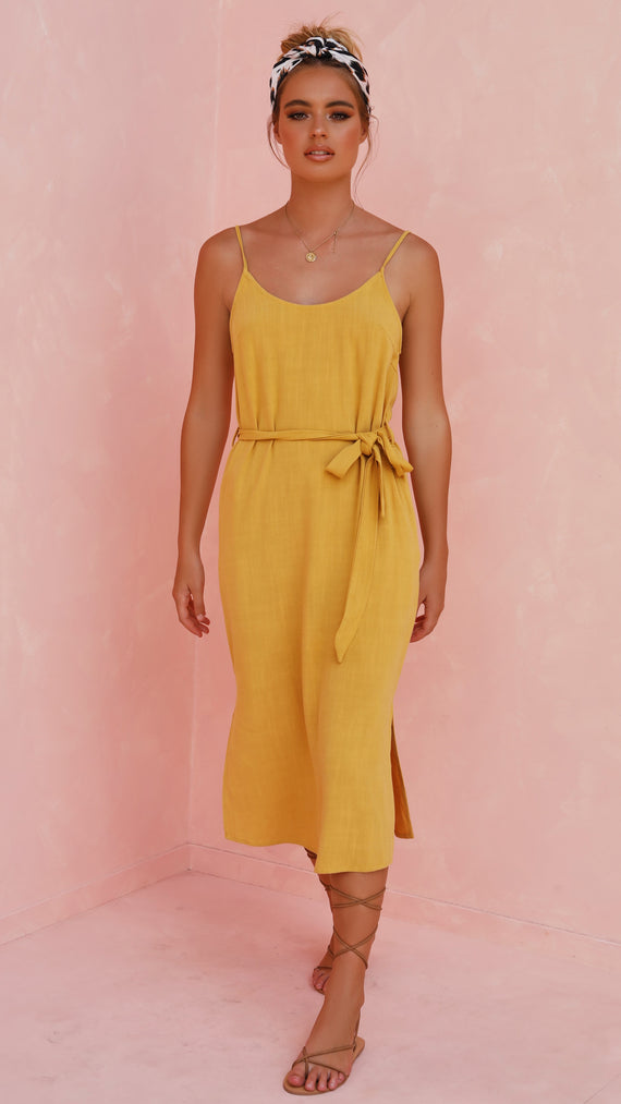 Teagan Dress - Mustard