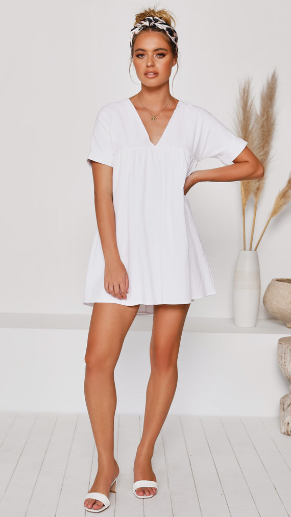 Ali Mae Dress - White