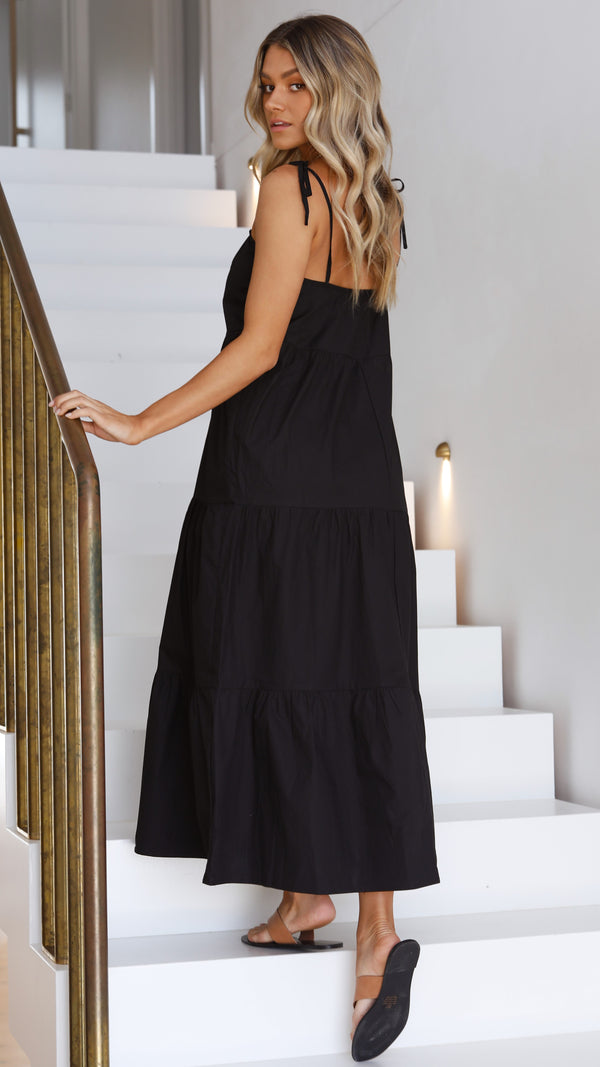 St Tropez Maxi Dress - Black