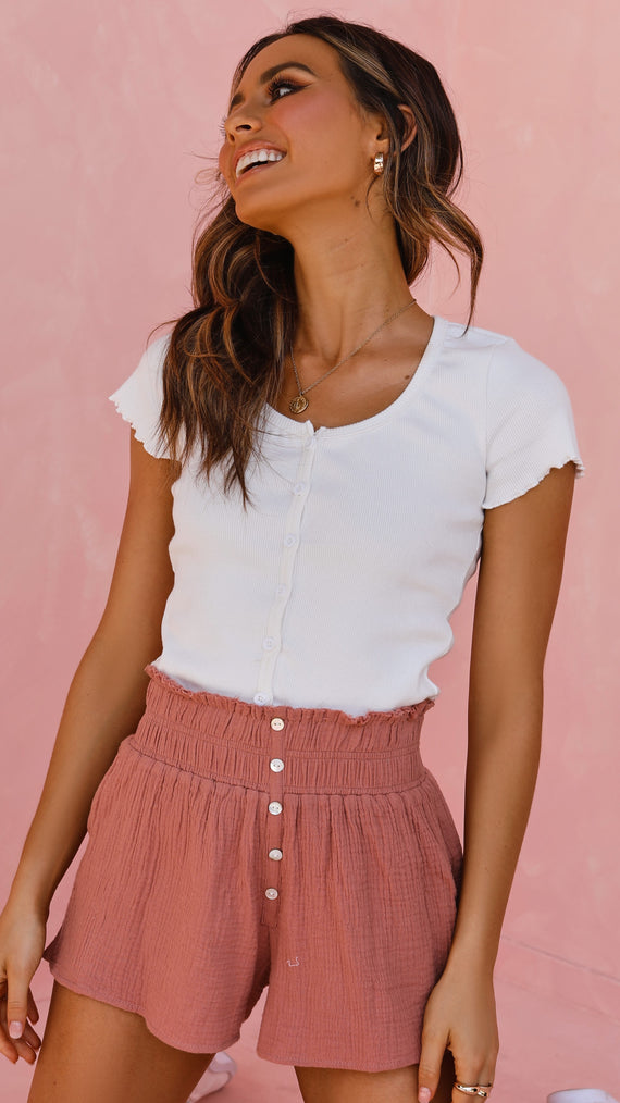 Shelby Crop Top - White